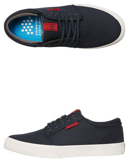 NAVY RED KIDS BOYS KUSTOM SNEAKERS - 4867205LNVRD