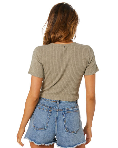 FADED OLIVE WOMENS CLOTHING RUSTY TEES - FSL0569-FDO