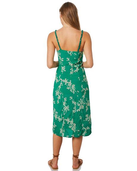 GRASS GREEN WOMENS CLOTHING THE HIDDEN WAY DRESSES - H8201452GRN