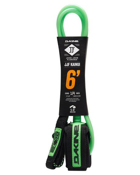 BLACK GREEN BOARDSPORTS SURF DAKINE LEASHES - 10001793BLKGR