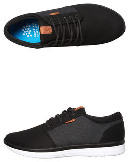 BLACK MICRO MENS FOOTWEAR KUSTOM SNEAKERS - 4976102ABLKMI