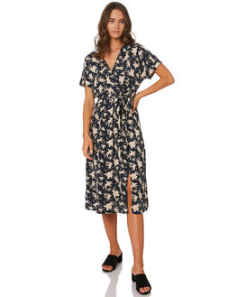 NOMADIC BATIK BLACK WOMENS CLOTHING LILYA DRESSES - RNBD84BATIK