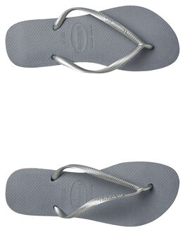 STEEL GREY WOMENS FOOTWEAR HAVAIANAS THONGS - 40000305178