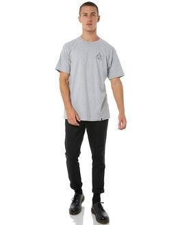 GREY MENS CLOTHING HUF TEES - TSBSC114GRY