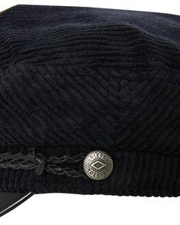 BLACK BLACK LEATHER MENS ACCESSORIES BRIXTON HEADWEAR - 00004BKBKL