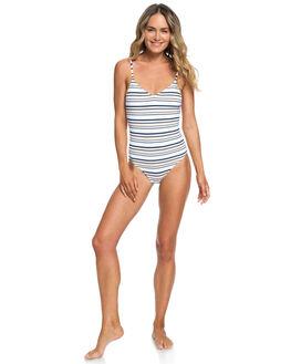 BRIGHT WHITE STRIPES WOMENS SWIMWEAR ROXY ONE PIECES - ERJX103190-WBB3