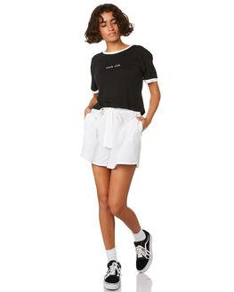 BLACK WOMENS CLOTHING COOLS CLUB TEES - 108-CW1BLK