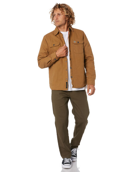 BISTRE TAN MENS CLOTHING DEUS EX MACHINA JACKETS - DMF205629BSTAN