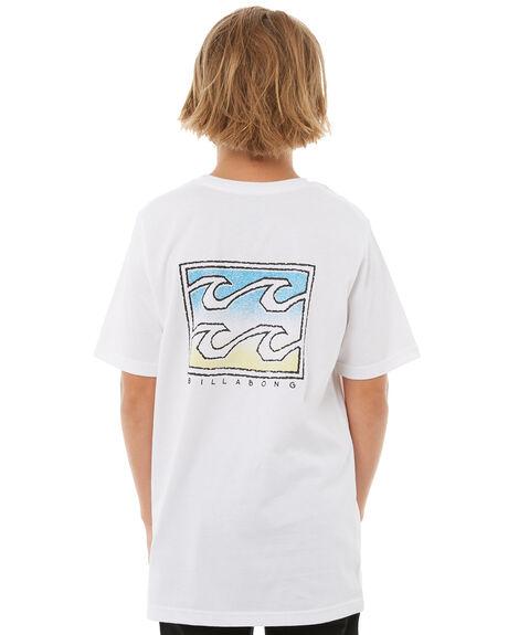 WHITE KIDS BOYS BILLABONG TEES - 8585026WHT