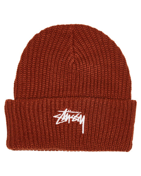 BRICK MENS ACCESSORIES STUSSY HEADWEAR - ST796004BRK