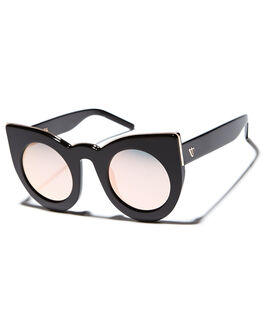 GLOSS BLK  ROSE GLD WOMENS ACCESSORIES VALLEY SUNGLASSES - S0284BLKGD