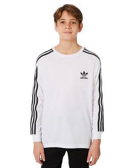 WHITE BLACK KIDS BOYS ADIDAS ORIGINALS TEES - CE1070WHBLK