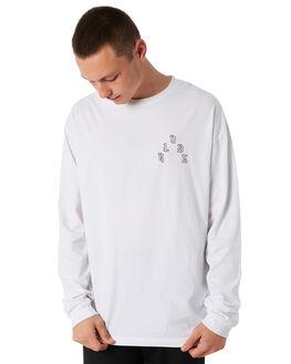 WHITE MENS CLOTHING GLOBE TEES - GB01830021WHT