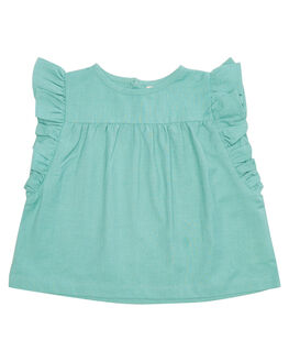 DEEP AQUA KIDS GIRLS ISLAND STATE CO TOPS - MXCNBLSE-AQUA