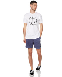 WHITE BLACK STRIPE MENS CLOTHING CAPTAIN FIN CO. TEES - CT172200WBK