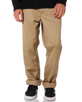 LEATHER MENS CLOTHING CARHARTT PANTS - I020075-8YLEA