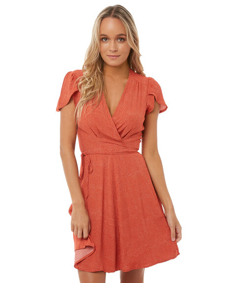 RED MINI SPOT WOMENS CLOTHING ROLLAS DRESSES - 12547RED