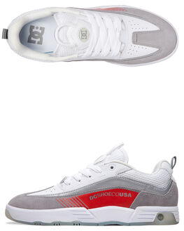WHITE/GREY/RED MENS FOOTWEAR DC SHOES SNEAKERS - ADYS100447-WYR