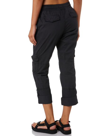 WASHED BLACK WOMENS CLOTHING SWELL PANTS - S8201191WBLK