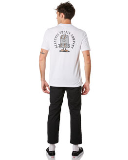 BRIGHT WHITE MENS CLOTHING HERSCHEL SUPPLY CO TEES - 50027-00383BRWHT