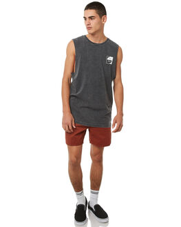 BLACK ACID MENS CLOTHING RVCA SINGLETS - R181006BACID