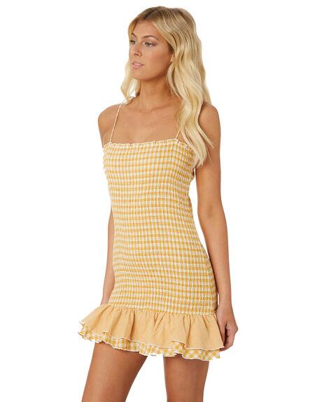 YELLOW WOMENS CLOTHING MINKPINK DRESSES - MP1806559YEL