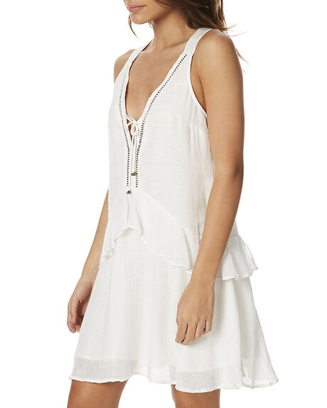 WHITE WOMENS CLOTHING TIGERLILY DRESSES - T362417WHT