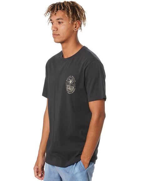WASHED BLACK MENS CLOTHING RIP CURL TEES - CTEQD98264