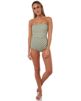 OLIVE STRIPE WOMENS SWIMWEAR RUE STIIC ONE PIECES - RS118-11OLVST