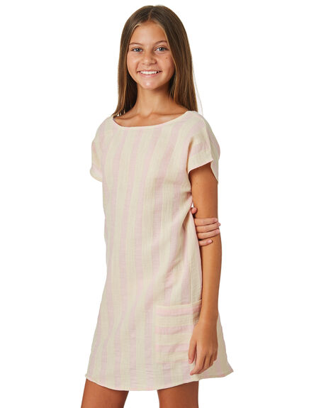 PINK WHITE STRIPE KIDS GIRLS EVES SISTER DRESSES + PLAYSUITS - 9520014PKWTS