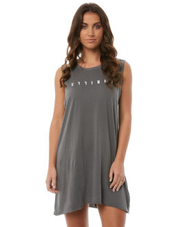 FADED GREY WOMENS CLOTHING THRILLS DRESSES - WTS7-901GFGREY