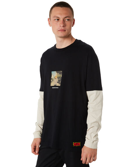 BLACK MENS CLOTHING GLOBE TEES - GB01830037BLK