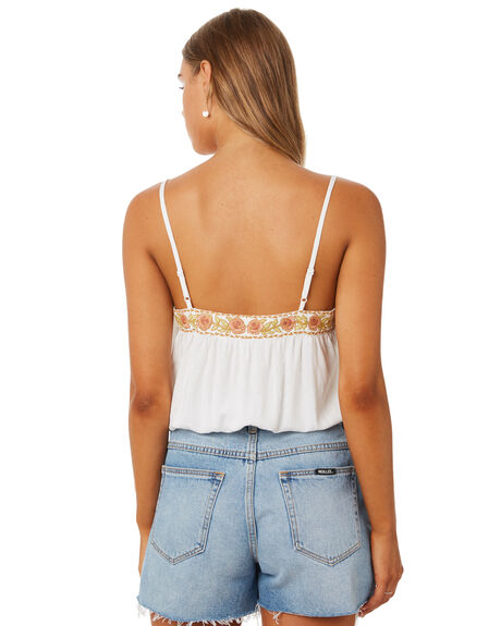 WHITE WOMENS CLOTHING THE HIDDEN WAY FASHION TOPS - H8202272WHITE
