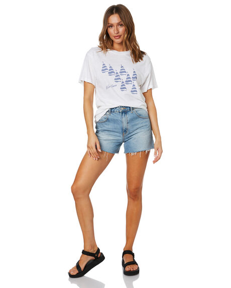 WHITE WOMENS CLOTHING ROLLAS TEES - 13857WHT