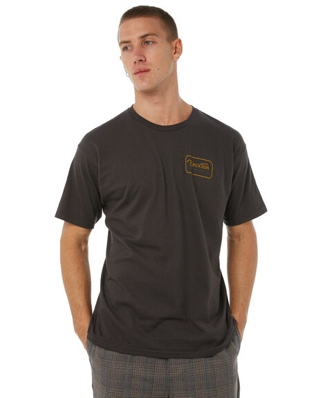 WASHED BLACK MENS CLOTHING BRIXTON TEES - 06251WABLK
