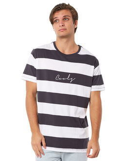 BLACK STRIPE MENS CLOTHING BARNEY COOLS TEES - 120-CR1BLKST