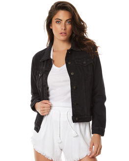 BLACK WOMENS CLOTHING THE HIDDEN WAY JACKETS - H8173381BLK