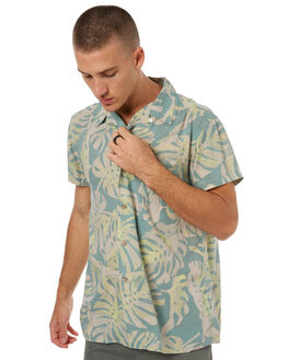 GREEN FLORAL MENS CLOTHING DEUS EX MACHINA SHIRTS - DMS75878GFLRL