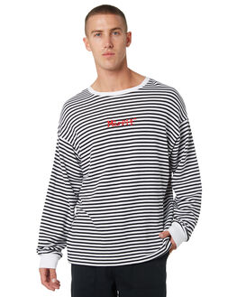 WHITE MENS CLOTHING MISFIT JUMPERS - MT095201WHT