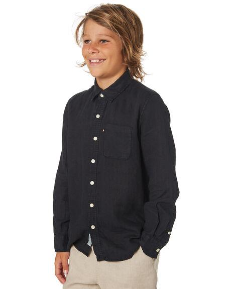 BLACK KIDS BOYS ACADEMY BRAND TOPS - BBA801BLK