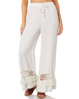 WHITE OUTLET WOMENS TIGERLILY PANTS - T392381WHT