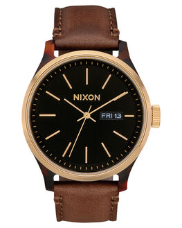 TORTOISE GOLD BROWN MENS ACCESSORIES NIXON WATCHES - A1263-3167