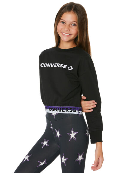 BLACK KIDS GIRLS CONVERSE JUMPERS + JACKETS - R468913023