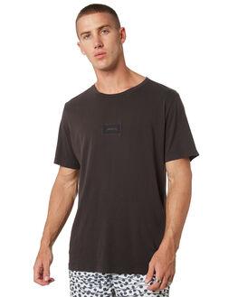 BLACK MENS CLOTHING RVCA TEES - R181061BLK