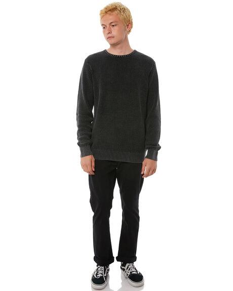 WASHED BLACK MENS CLOTHING BILLABONG PANTS - 9585303WAA