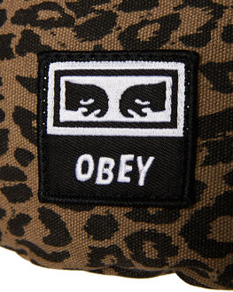 LEOPARD KHAKI MENS ACCESSORIES OBEY BAGS + BACKPACKS - 100010098LEO
