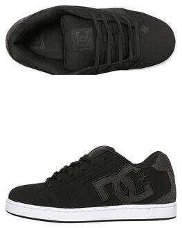 BLACK BLACK GREY MENS FOOTWEAR DC SHOES SKATE SHOES - 302297XKKS
