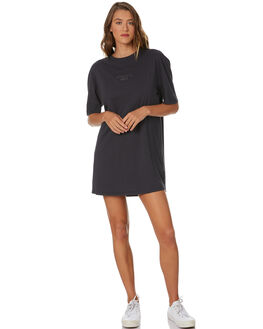 WASHED BLACK WOMENS CLOTHING SWELL DRESSES - S8204447WSHBK