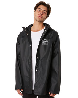 BLACK WHITE TWO MENS CLOTHING HERSCHEL SUPPLY CO JACKETS - 50001-00206BLKWH