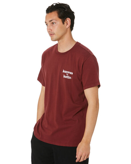 DARK RED MENS CLOTHING KATIN TEES - TSKMA06DKRD